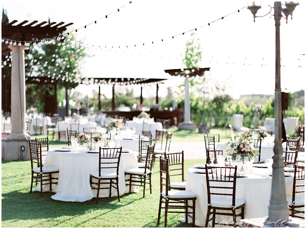 Mount Palomar Winery wedding - Temecula wedding - Reception - Winery wedding - Classic Touch Events - Signage by Twinkle and Toast - Blush florals by Posh Peony - San Diego fine art photographer - Whiskers and Willow Photography