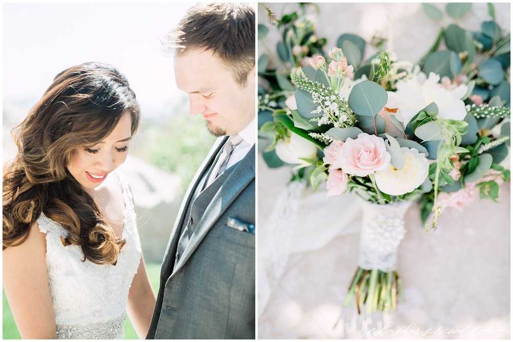 Mount Palomar Winery wedding - Temecula wedding - Bride and groom - Romantic photos - Blush bridal bouquet by Posh Peony - San Diego fine art photographer - Whiskers and Willow Photography