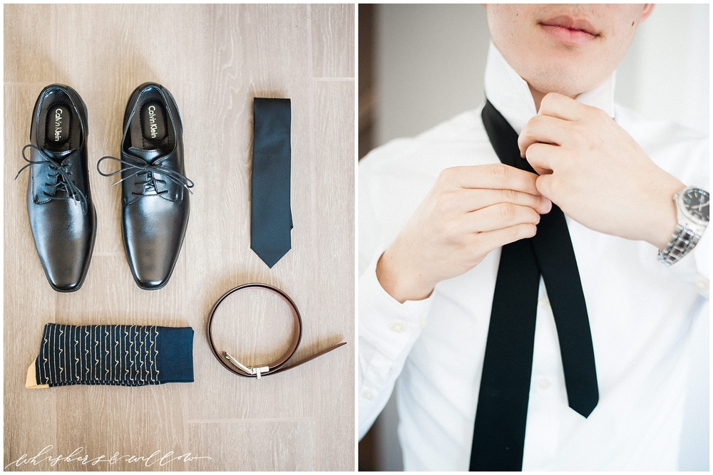 Groom getting ready | groom details | San Diego fine art wedding photography | Carmel Mountain Ranch Country Club Wedding | Whiskers and Willow Photography