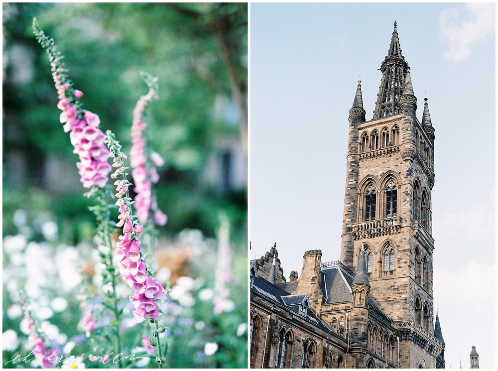 University of Glasgow | Glasgow Scotland Travel Photography | Film Photography | Nikon F100 | Fuji 400h | Scotland Photographer