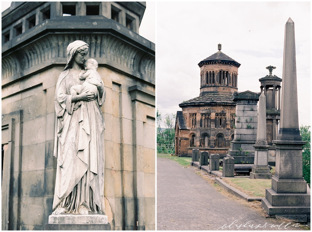 Glasgow Necropolis | Scotland Travel Photography | Film Photography | Nikon F100 | Fuji 400h | Scotland Photographer