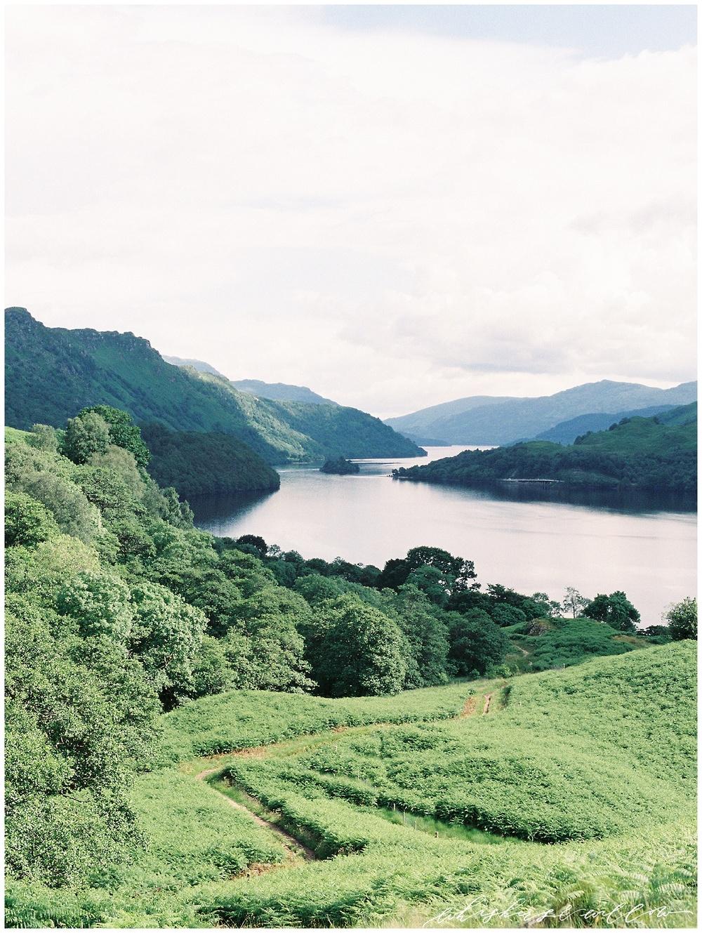 Climbing away from Loch Lomond.