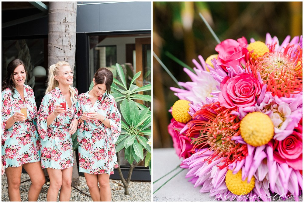 Colorful Bridesmaids Robes | La Jolla Wedding Photographer | San Diego Fine Art Wedding Photographer | Whiskers and Willow Photography