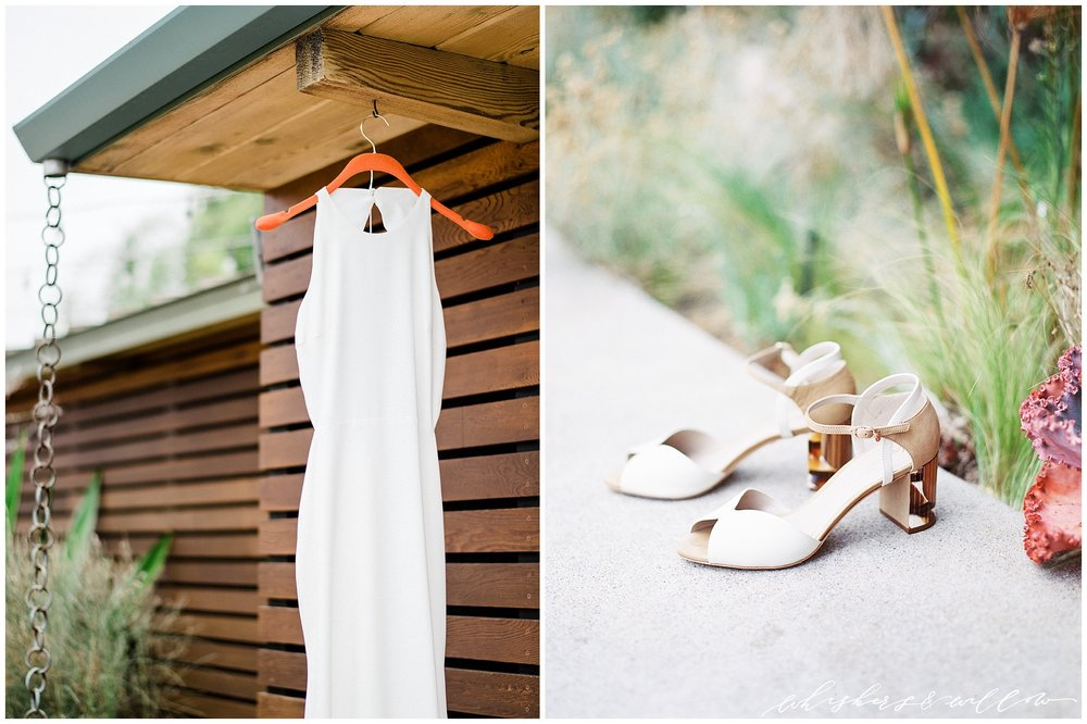 Modern Wedding Gown | Guilhermina Shoes | La Jolla Wedding Photographer | San Diego Fine Art Wedding Photographer | Whiskers and Willow Photography