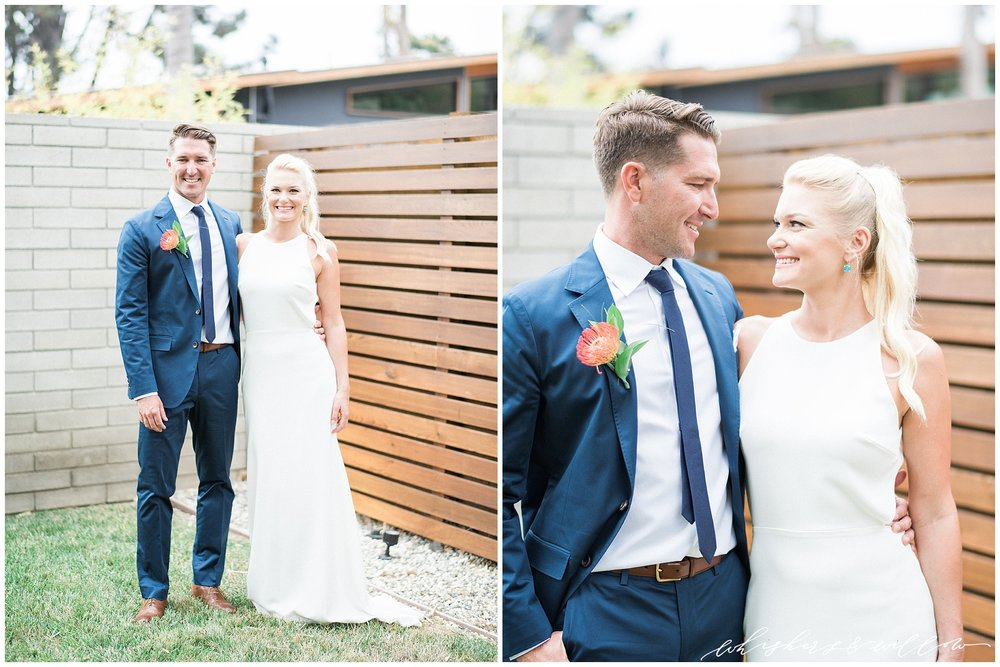 Modern Bride and Groom | La Jolla Wedding Photographer | San Diego Fine Art Wedding Photographer | Whiskers and Willow Photography