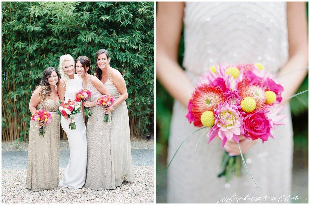 Colorful Bridesmaids | Modern Bride | La Jolla Wedding Photographer | San Diego Fine Art Wedding Photographer | Whiskers and Willow Photography