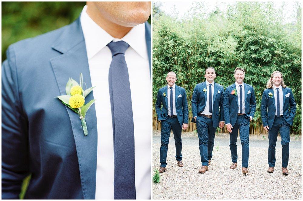 Modern Groom | Blue Suit | Modern Boutonniere | La Jolla Wedding Photographer | San Diego Fine Art Wedding Photographer | Whiskers and Willow Photography