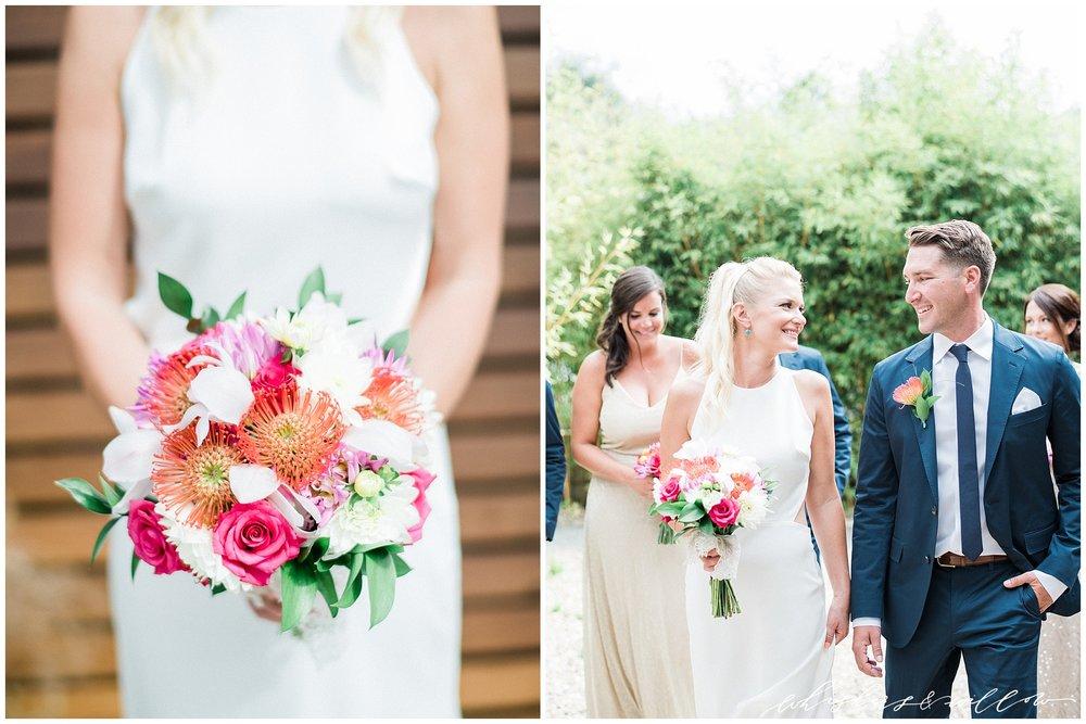 Colorful bridal bouquet | Colorful Bride | La Jolla Wedding Photographer | San Diego Fine Art Wedding Photographer | Whiskers and Willow Photography