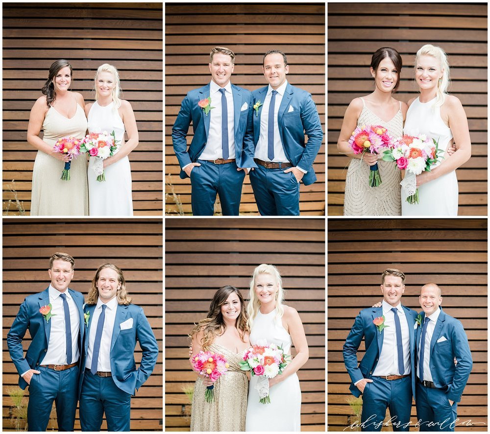 Colorful Bridal Party | La Jolla Wedding Photographer | San Diego Fine Art Wedding Photographer | Whiskers and Willow Photography