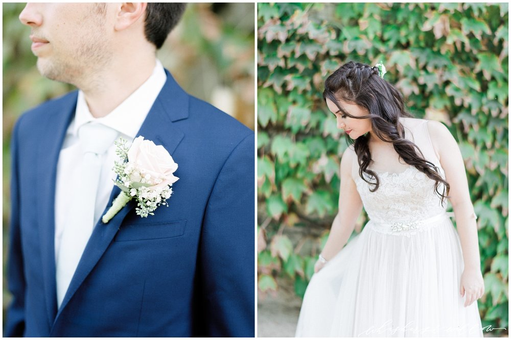 Blue grooms suit | Romantic bridal gown | Leoness Cellars Wedding | Temecula Wedding Photographer | San Diego Wedding Photographer | San Diego Film Photographer | Whiskers and Willow Photography