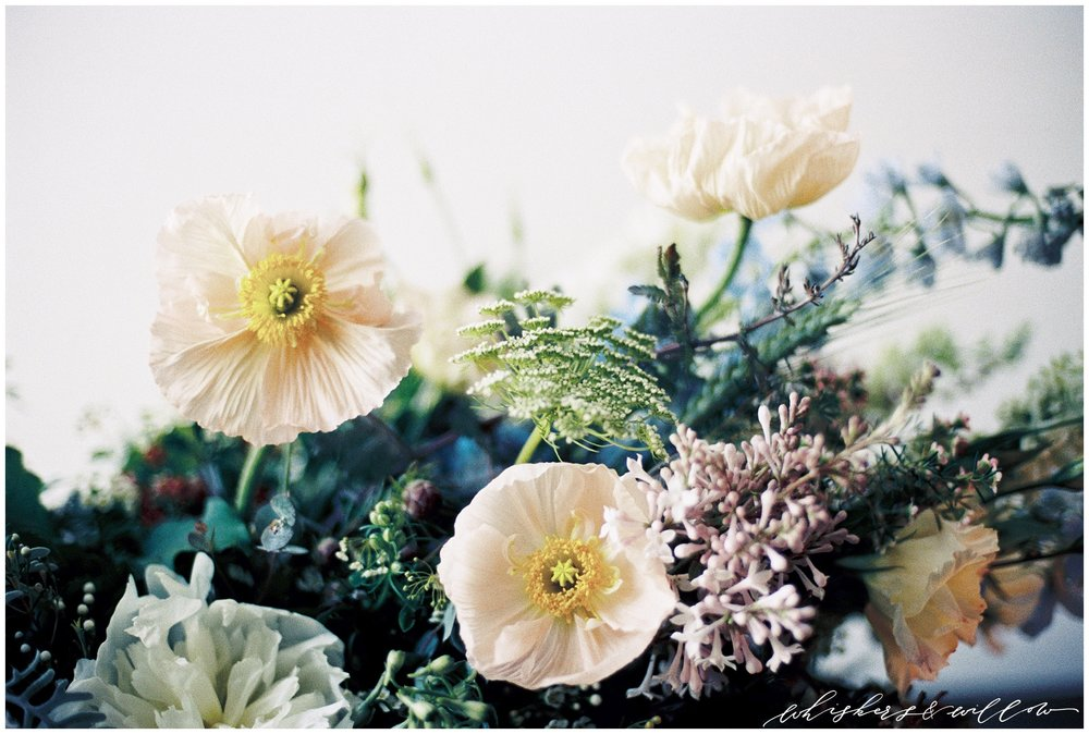 Modern forage florals by Layered Vintage | Modern and moody | San Diego Wedding Photographer | Type and Title | Whiskers and Willow Photography.jpg