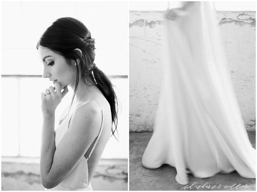 Modern and moody bride | San Diego Wedding Photographer | Type and Title | Whiskers and Willow Photography