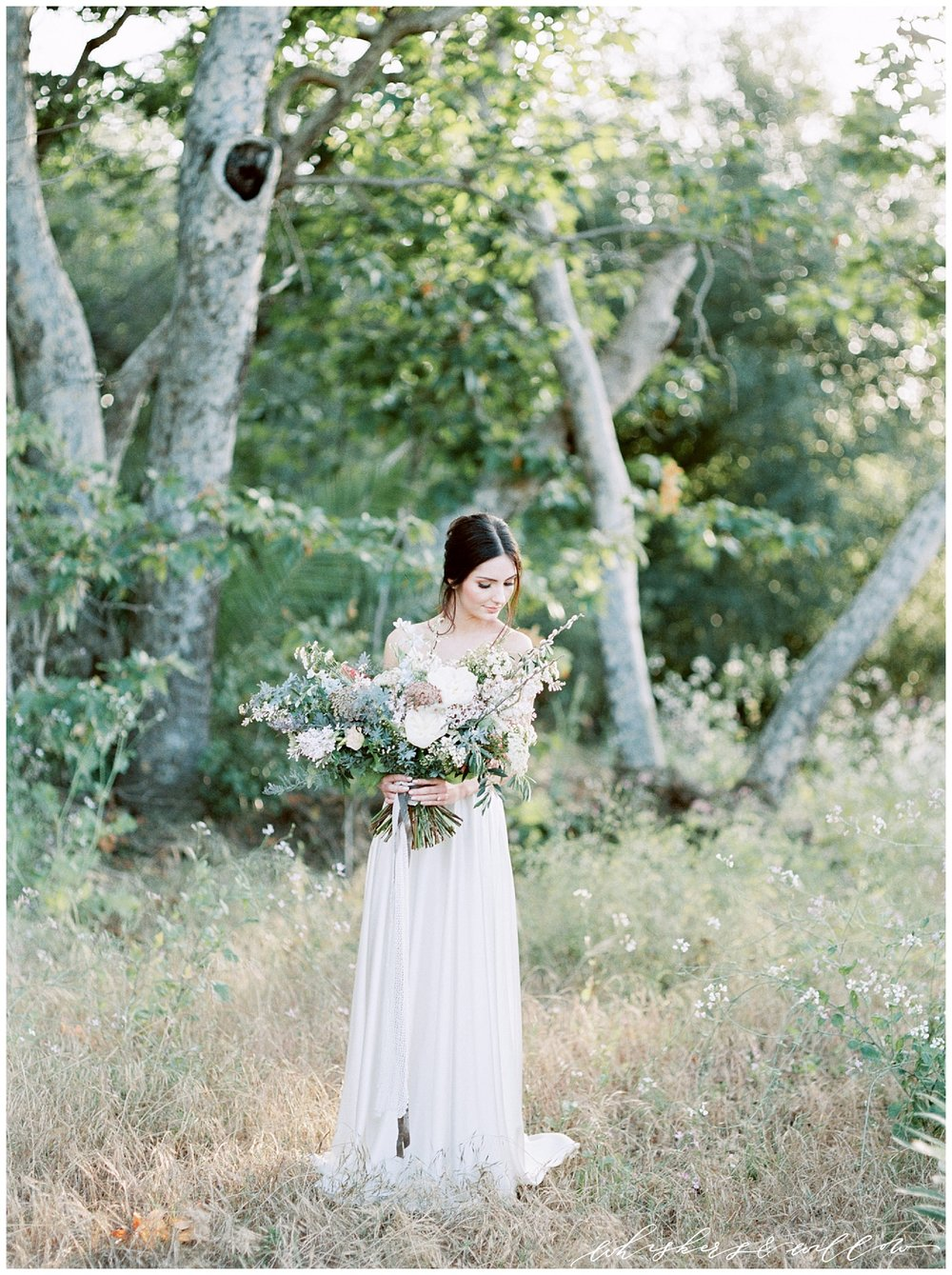 Garden wedding bridal inspiration | Modern garden wedding | San Diego Wedding Photographer | Type and Title | Whiskers and Willow Photography