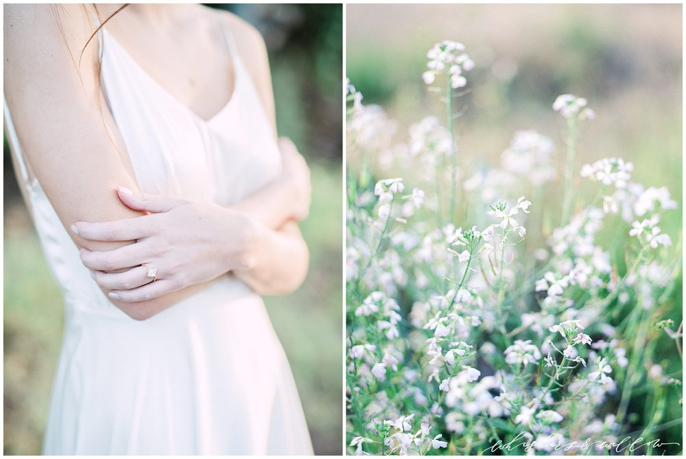 Garden wedding bridal inspiration | Modern garden wedding | Modern solitaire engagement ring by Susie Saltzman | San Diego Wedding Photographer | Type and Title | Whiskers and Willow Photography