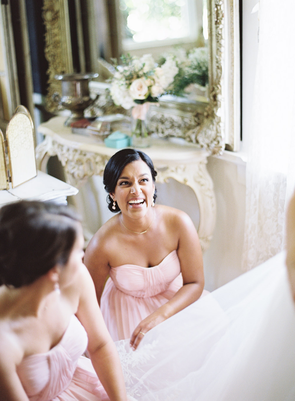 Romantic Garden Wedding in California | Style Me Pretty | Green Gables Estate | Bride getting ready | Classic Romantic | Southern California Film photographer | Whiskers and Willow Photography.jpg