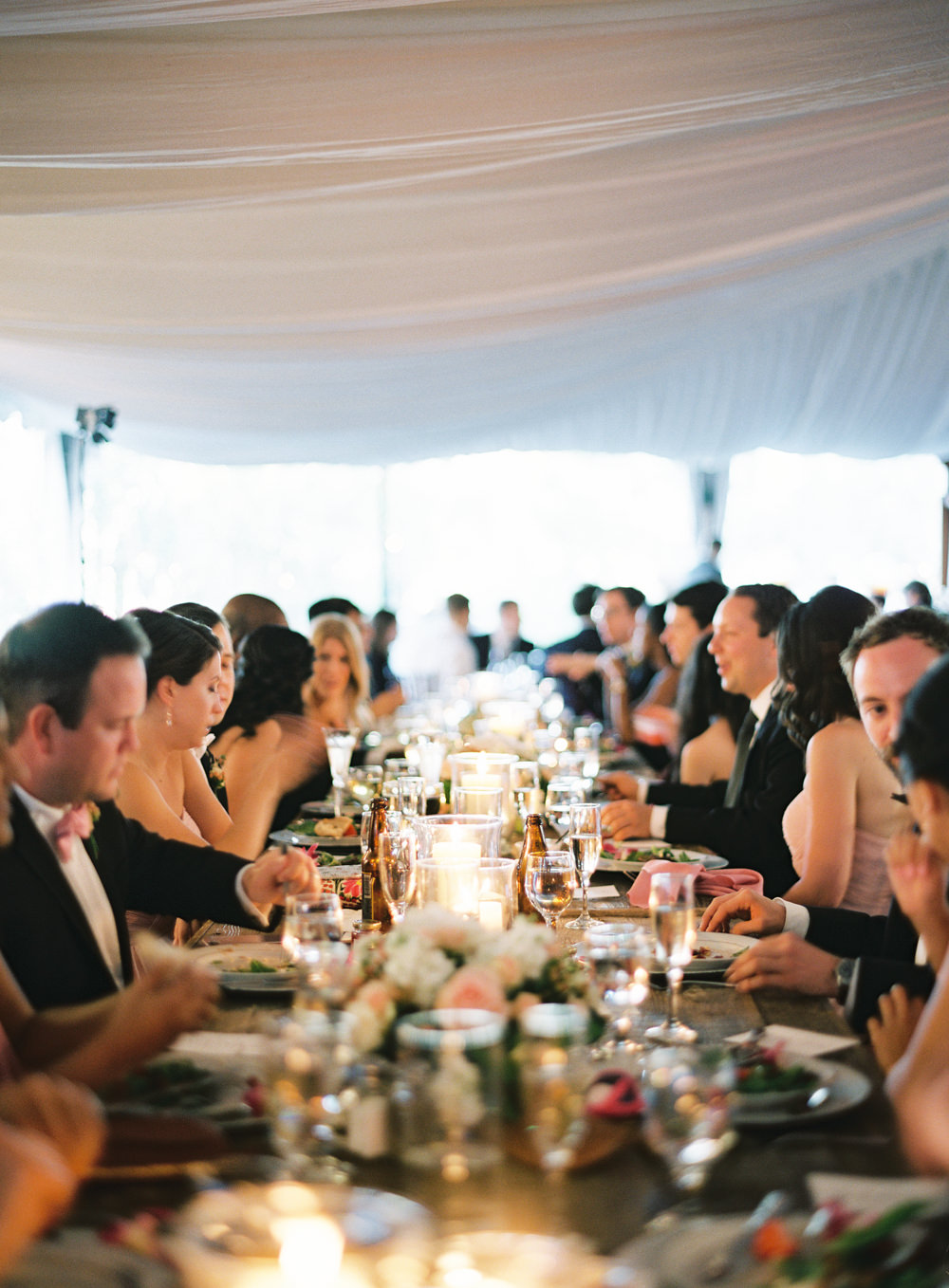 Romantic Garden Wedding in California | Style Me Pretty | Green Gables Estate | Classic Romantic wedding reception | Southern California Film photographer | Whiskers and Willow Photography