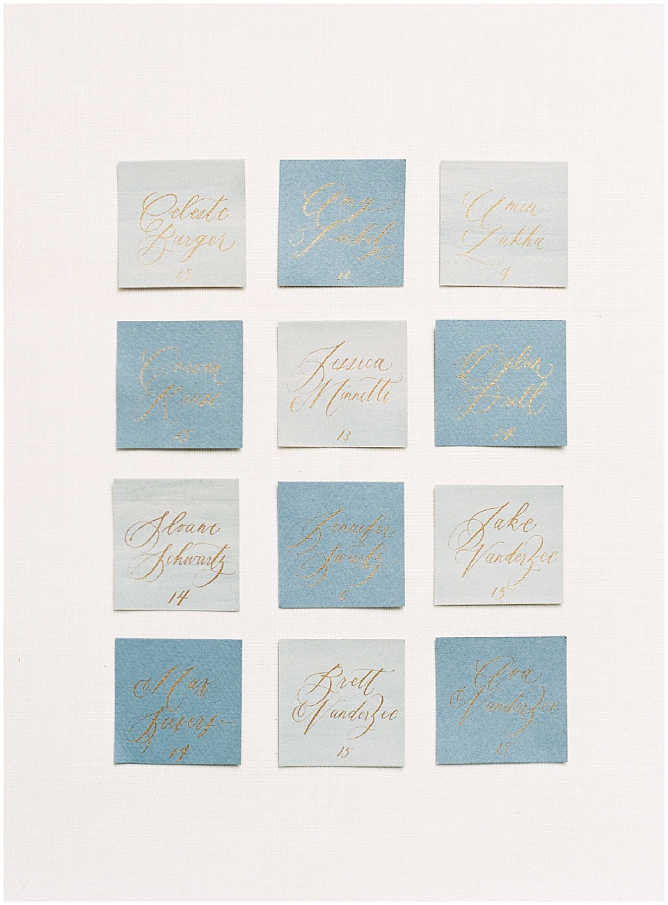 French paper suite | Light blue beige gold calligraphy stationary | escort cards | Joy Proctor Design | Written Word Calligraphy | French Wedding Inspiration | France Wedding | Destination Film Photographer | Paris Wedding | Fine Art Film Photographer | Whiskers and Willow Photography