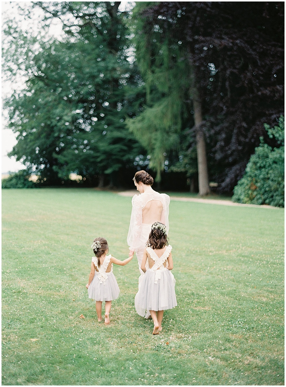 Light blue flower girl dress | Yolan Cris wedding gown | French Wedding Inspiration | France Wedding | Destination Film Photographer | Paris Wedding | Fine Art Film Photographer | Chateau De Carsix | Whiskers and Willow Photography.jpg