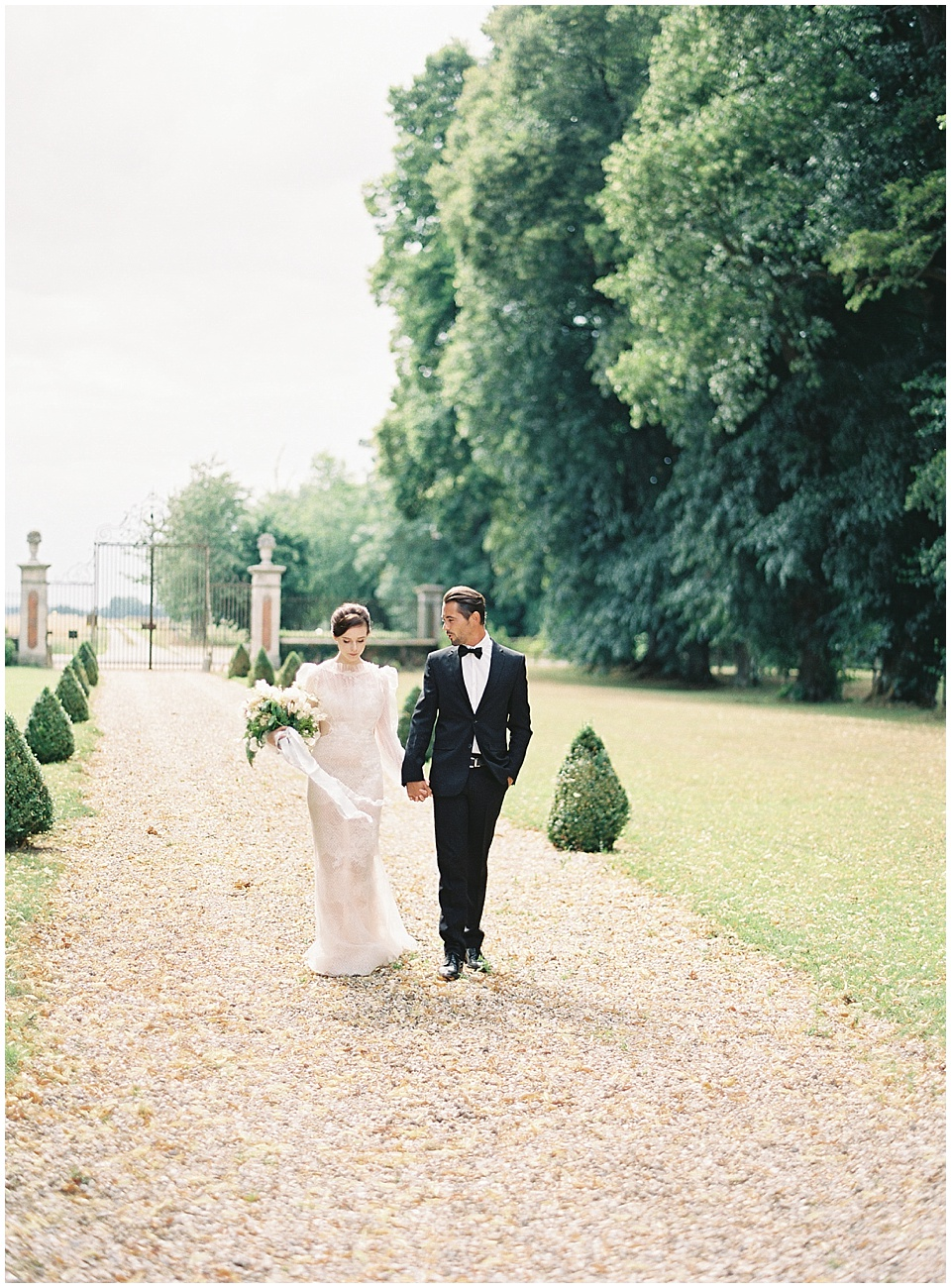 Bride and groom portraits | Yolan Cris wedding gown | Bows and Arrows florals | French Wedding Inspiration | France Wedding | Destination Film Photographer | Paris Wedding | Fine Art Film Photographer |  Chateau De Carsix | Whiskers and Willow Photography
