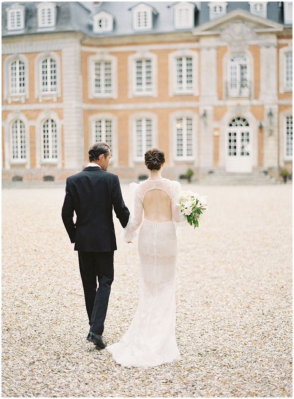 Ceremony setup | French chateau | Bride and groom portraits | Joy Proctor Design | Bows and Arrows florals | French Wedding Inspiration | France Wedding | Destination Film Photographer | Paris Wedding | Fine Art Film Photographer |  Chateau De Carsix | Whiskers and Willow Photography.jpg
