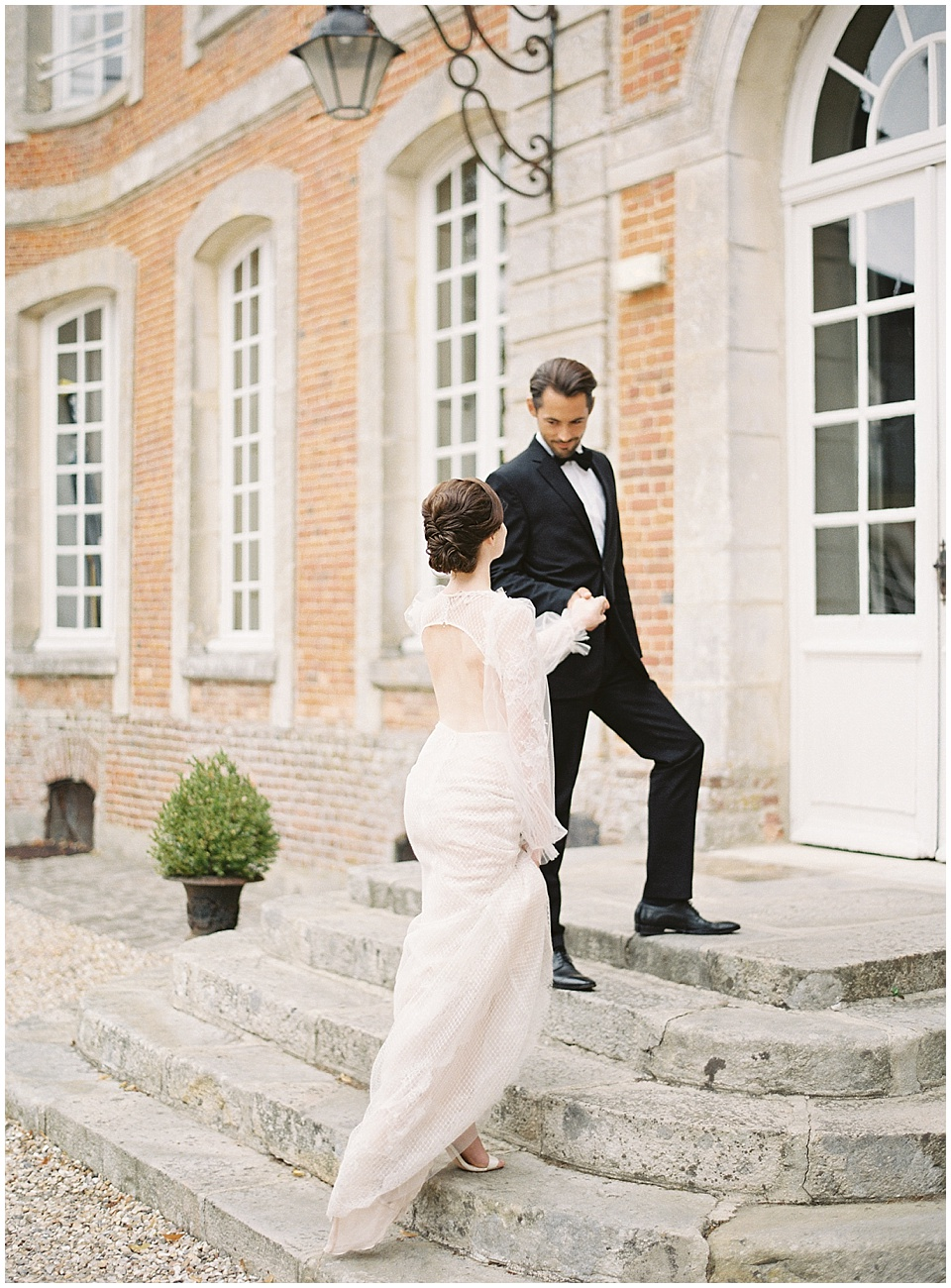French chateau | Bride and groom portraits | Joy Proctor Design | French Wedding Inspiration | France Wedding | Destination Film Photographer | Paris Wedding | Fine Art Film Photographer |  Chateau De Carsix | Whiskers and Willow Photography