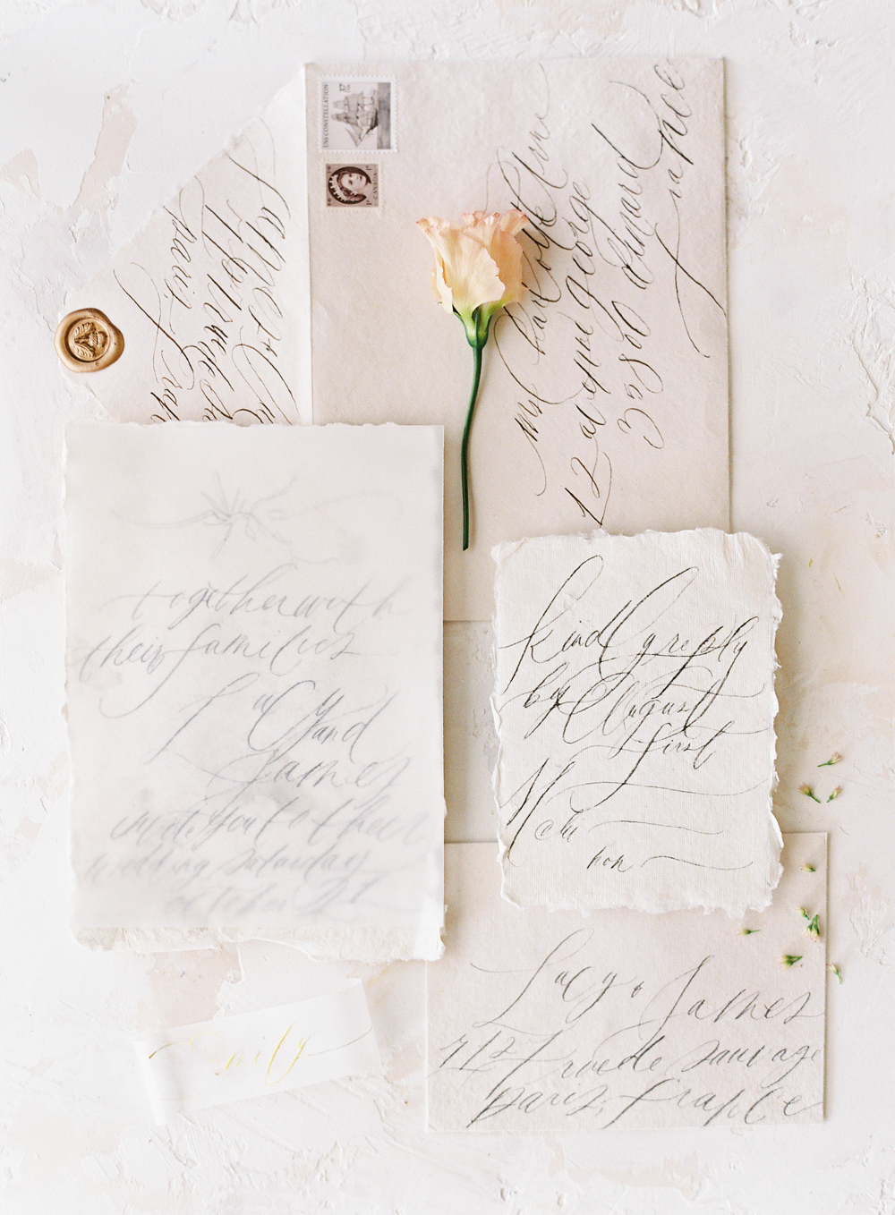 European Wedding Inspiration | French wedding calligraphy | Wedding stationary | France wedding photographer | Southern California film photographer | San Diego wedding photographer | Whiskers and Willow Photography