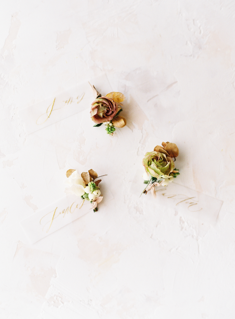 Neutral fall boutonnieres by Plenty of Petals | neutral wedding | neutral floral design| European Wedding Inspiration | French wedding | France wedding photographer | Southern California film photographer | San Diego wedding photographer | Whiskers and Willow Photography