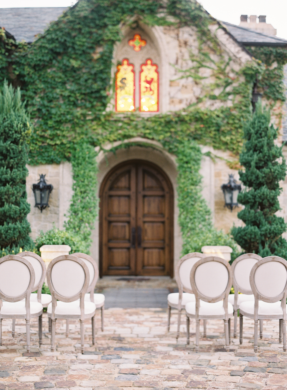 Hidden Castle | Rancho Santa Fe | Estate Events with Venuelust | neutral wedding | European Wedding Inspiration | French wedding | France wedding photographer | Southern California film photographer | San Diego wedding photographer | Whiskers and Willow Photography