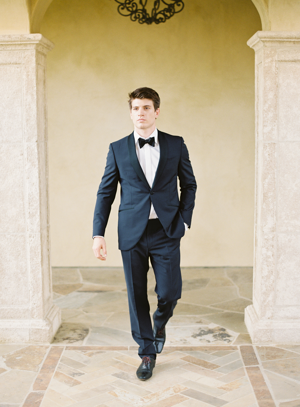 Luxury groom tux Canali | Luxury wedding | Hidden Castle | Rancho Santa Fe | Estate Events with Venuelust | neutral wedding | European Wedding Inspiration | French wedding | France wedding photographer | Southern California film photographer | San Diego wedding photographer | Whiskers and Willow Photography