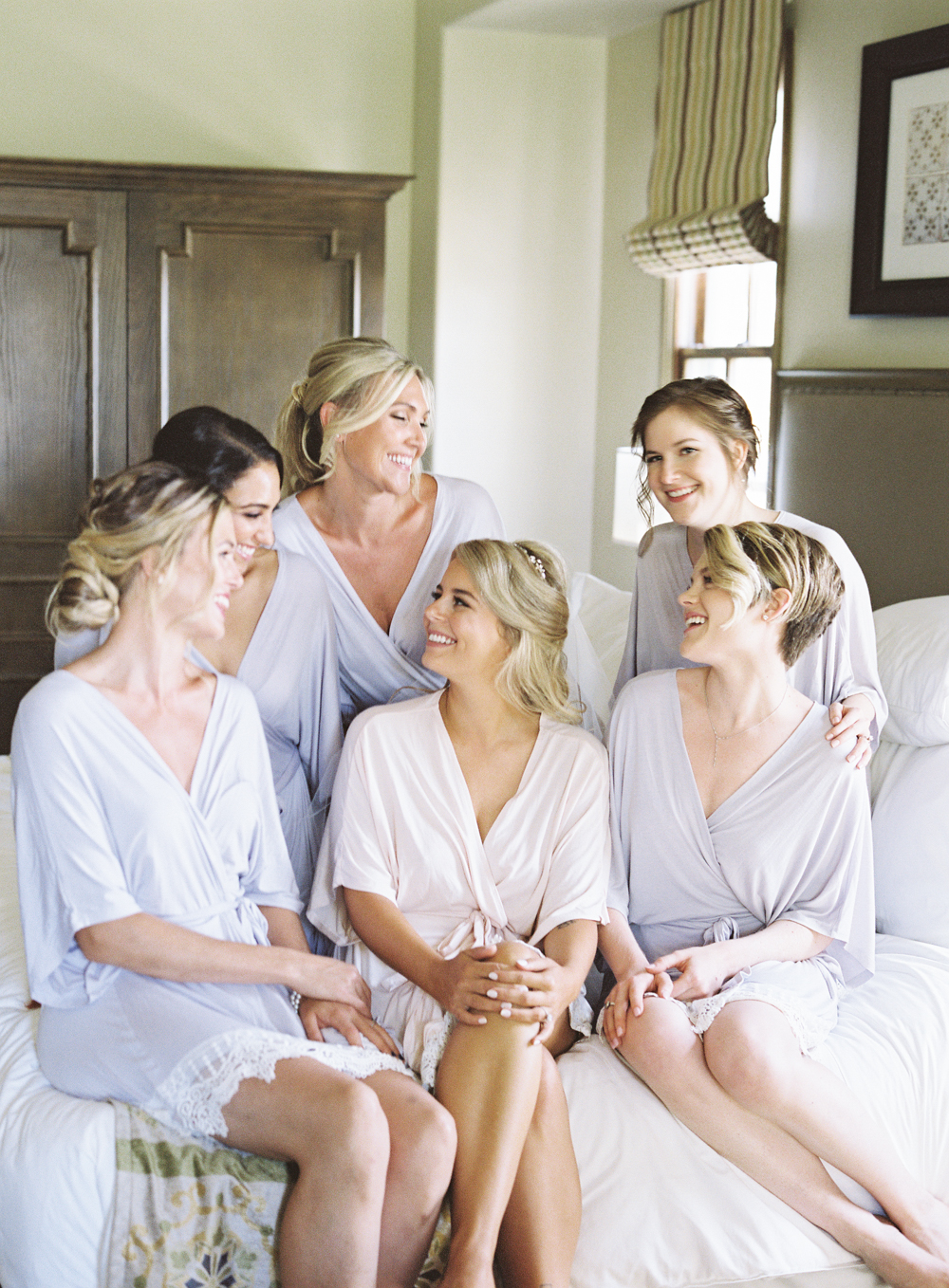 Bridal suite | Bride Getting Ready | Bridesmaids robes | Mount Palomar Winery Wedding | Blush and Lavender | San Diego wedding photographer | Temecula wedding photographer | Southern California film photographer | Whiskers and Willow Photography