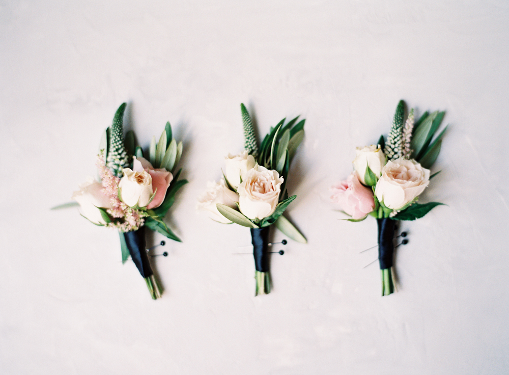 Posh Peony boutonnieres | Mount Palomar Winery Wedding | Blush and Lavender | San Diego wedding photographer | Temecula wedding photographer | Southern California film photographer | Whiskers and Willow Photography