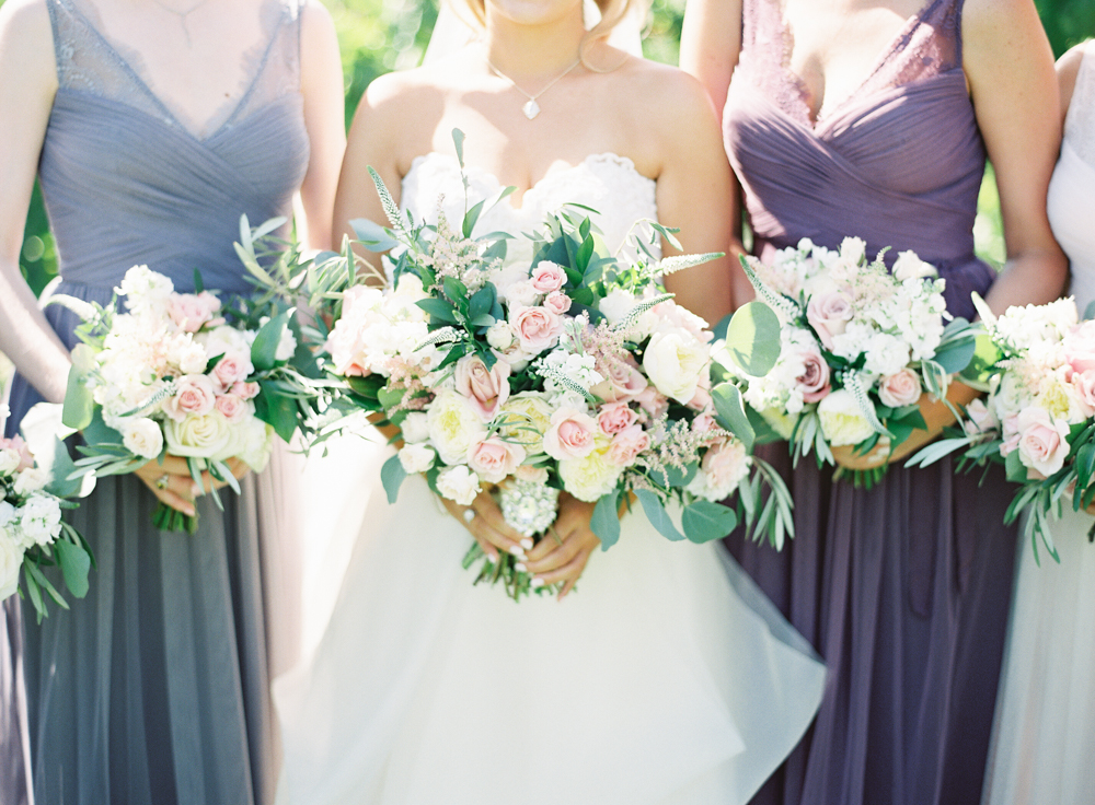Lavender bridesmaids BHLDN | Posh Peony bridal bouquet | Mount Palomar Winery Wedding | Blush and Lavender | San Diego wedding photographer | Temecula wedding photographer | Southern California film photographer | Whiskers and Willow Photography
