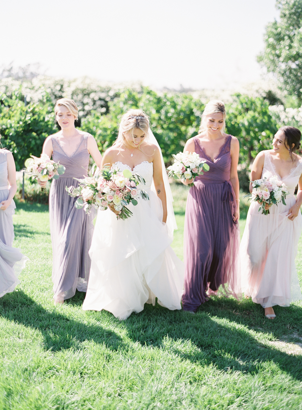 Lavender bridesmaids BHLDN | Posh Peony bridal bouquet | Mount Palomar Winery Wedding | Blush and Lavender | San Diego wedding photographer | Temecula wedding photographer | Southern California film photographer | Whiskers and Willow Photography