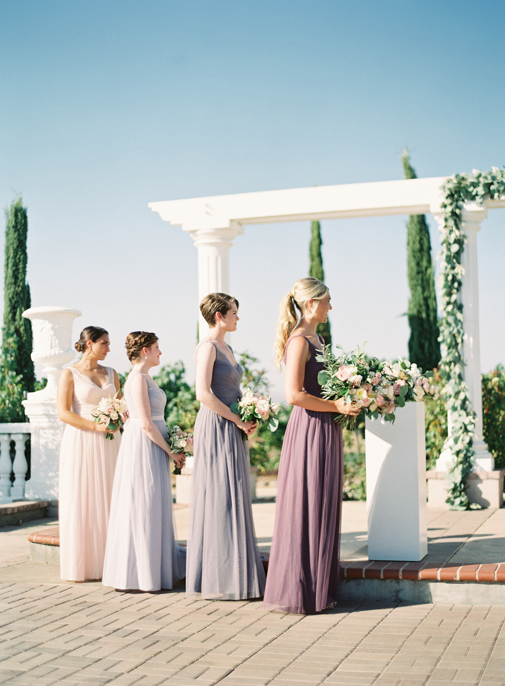 Lavender Blush bridesmaids dress BHLDN | Mount Palomar Winery Wedding | Blush and Lavender | San Diego wedding photographer | Temecula wedding photographer | Southern California film photographer | Whiskers and Willow Photography