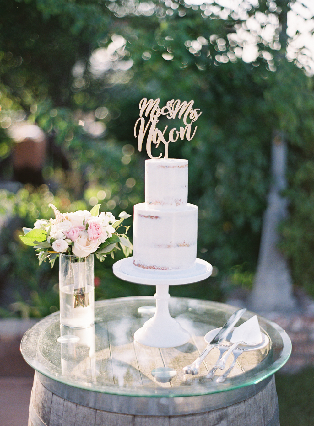 Sugar Divaz wedding cake | laser cut cake topper | Mount Palomar Winery Wedding | Blush and Lavender | San Diego wedding photographer | Temecula wedding photographer | Southern California film photographer | Whiskers and Willow Photography