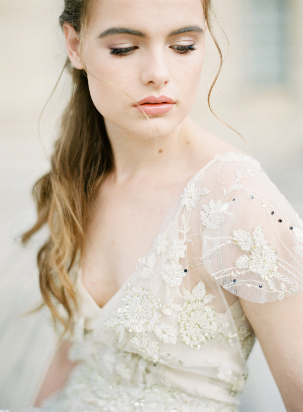 Paris Bride | Gold wedding gown | Ethereal Bride | Shop Gossamer | Bella Belle Shoes | Paris wedding photographer | Paris film photographer | France wedding photographer | France film photographer | Whiskers and Willow Photography.jpg.jpg