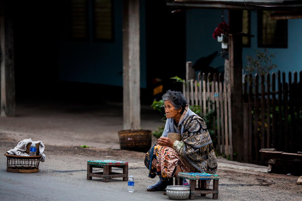 Woman in Luang Prabang, Laos