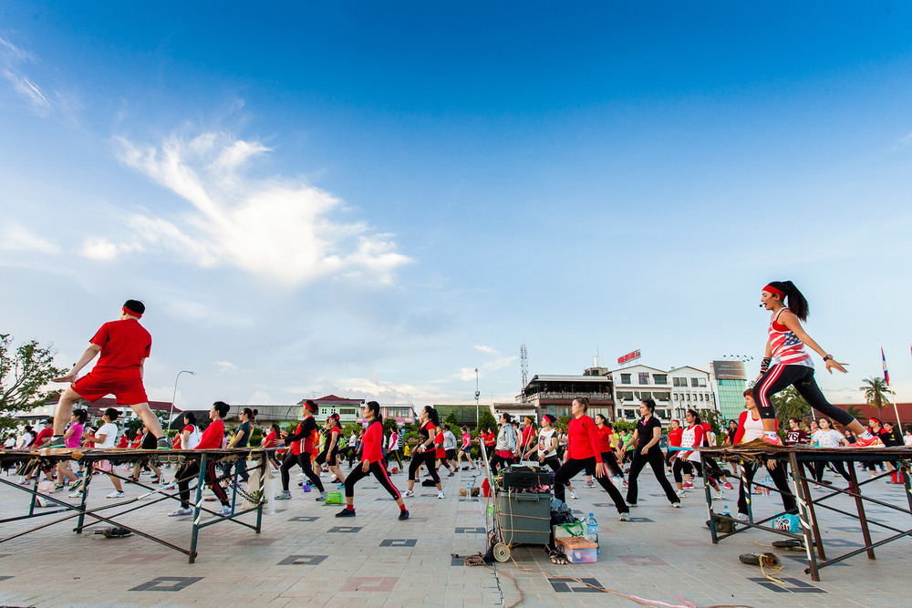 Vientiane daily exercise
