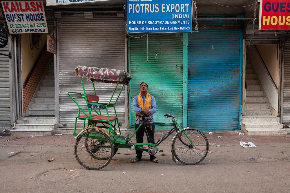 Rickshaw driver in Delhi