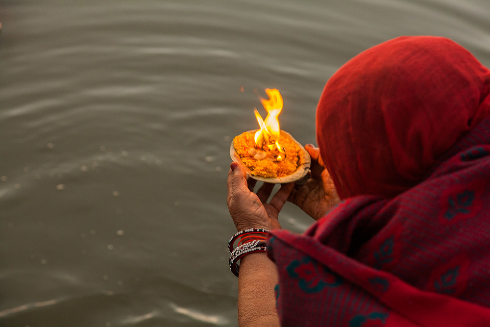Light on the River Ganges