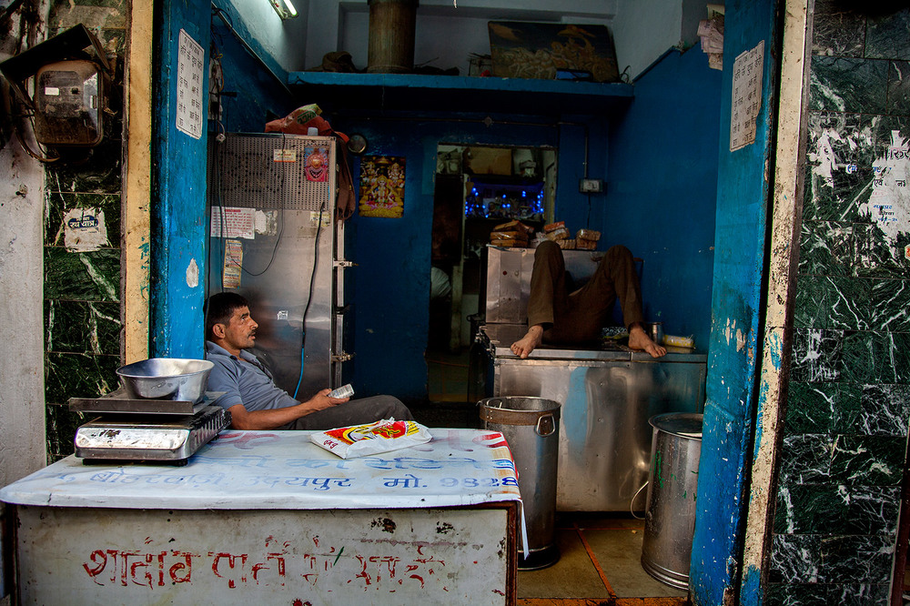 Delhi Shop Scene