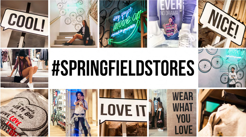 Springfield store design and social media.