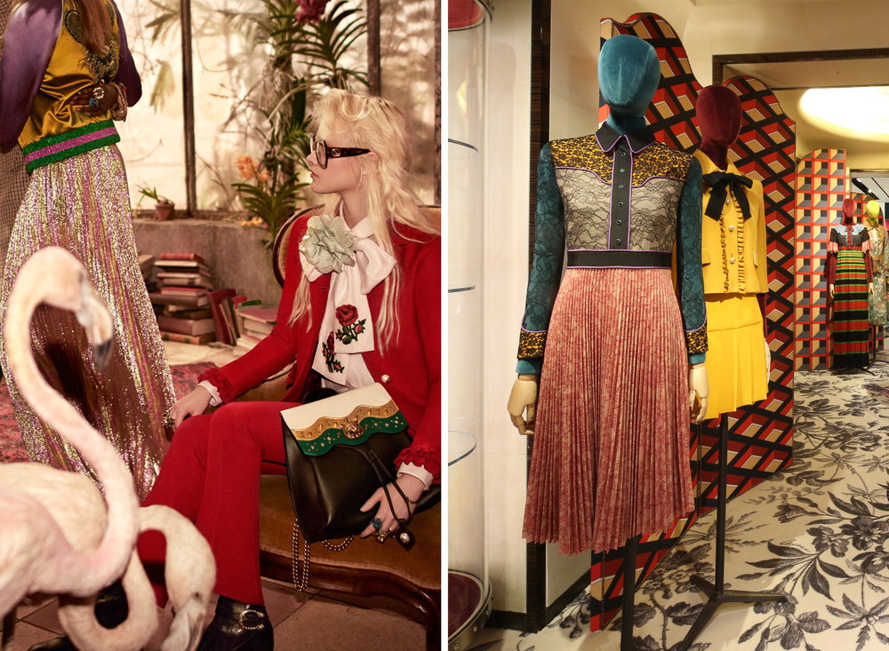 Gucci campaign and in-store 2016