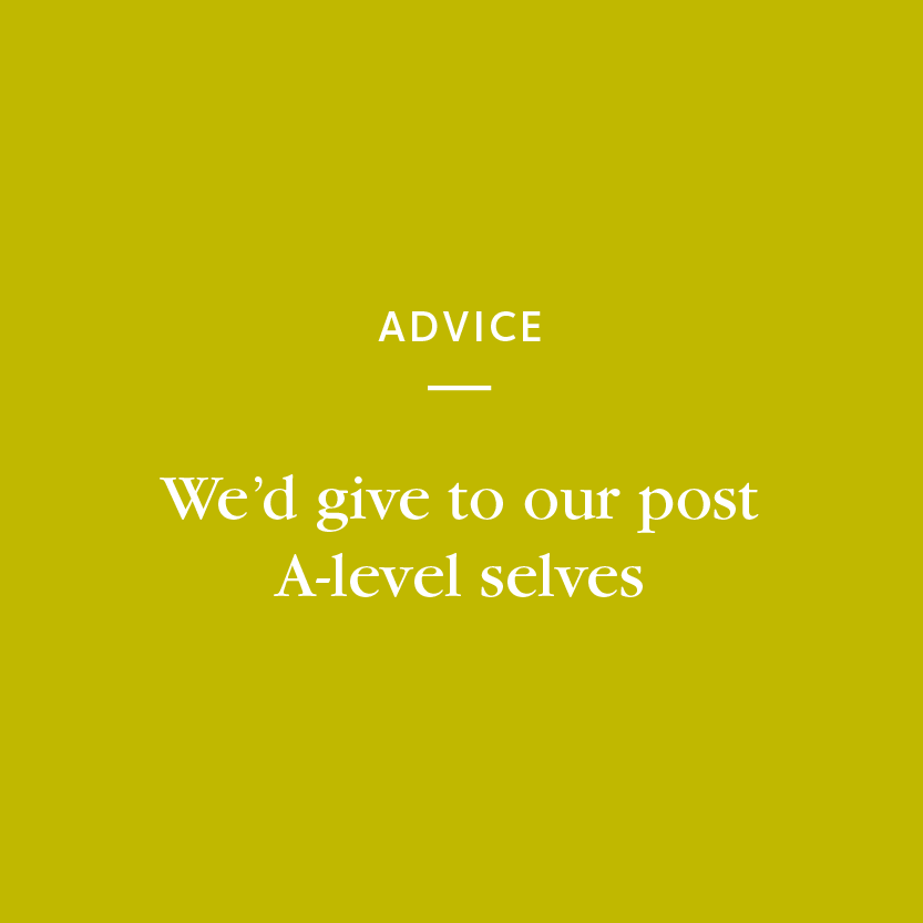 Advice we'd give... Posted by Charlotte