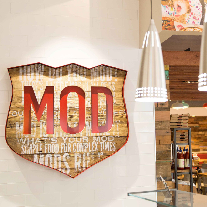 Check out our latest work with MOD Pizza, and their first site in Leeds...