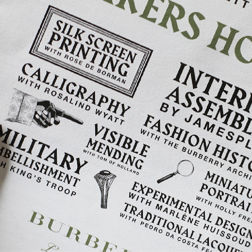 We spent the weekend at Burberry's Makers House.
