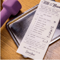 The café called 'Run for you Bun' let diners choose what ever they wanted of the menu, in exchange for a 10-minute HIIT session...