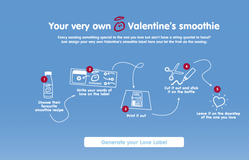 Innocent Smoothies Valentine's Day campaign