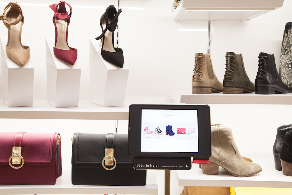 Aldo created a connected store of the future in NYC introducing new scan to try on system