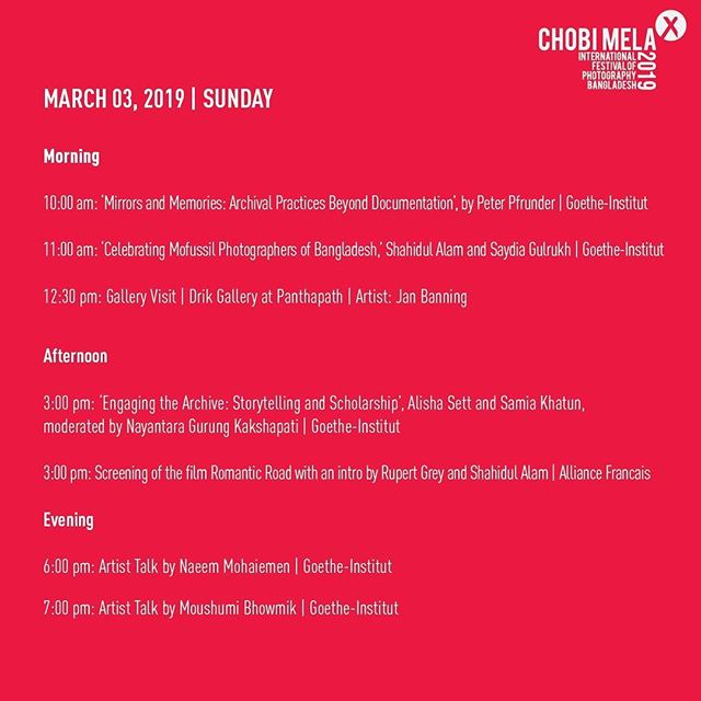 Day 4, Schedule for todays programs  For event registration go through the link: https://form.jotform.me/Chobimela/Event-Registration  For full schedule visit: http://www.chobimela.org/schedule